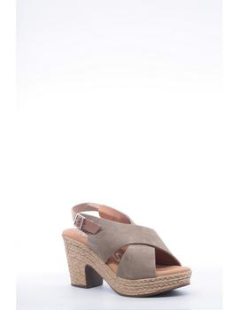 Sandalia Tacón OH MY SANDALS Mujer Taupe 4377