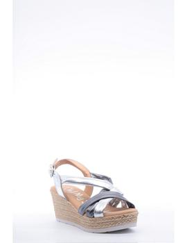 Sandalia Cuña OH MY SANDALS Mujer Plata 4372